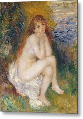 The Naiad Metal Print by Pierre Auguste Renoir