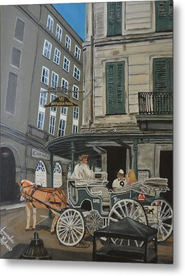 The Napolean House Metal Print by Amanda Ladner
