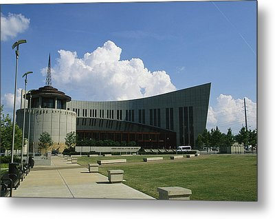 The New Country Music Hall Of Fame Metal Print by Stephen Alvarez