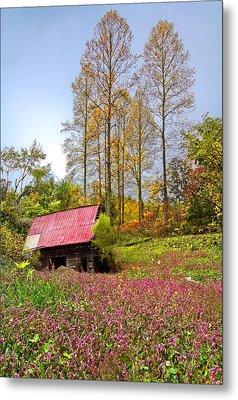 The Old Barn At Grandpas Farm Metal Print by Debra and Dave Vanderlaan