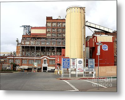 The Old California And Hawaii Pure Cane Sugar Company In Crockett California Metal Print by Wingsdomain Art and Photography