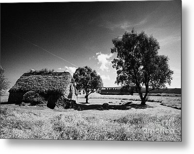 the old leanach cottage on Culloden moor battlefield site highlands scotland Metal Print by Joe Fox