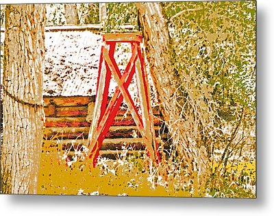 The Old Ranch Tower Metal Print by Lenore Senior and Dawn Senior-Trask