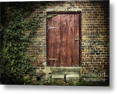 The Old Red Door Metal Print by Sari Sauls