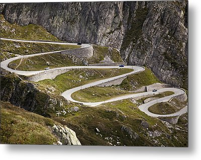 The Old Road To Gotthard Pass Metal Print by Buena Vista Images