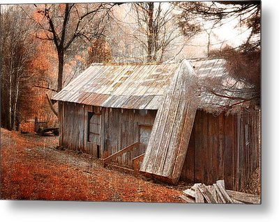The Old Row Boat Metal Print by Gray  Artus