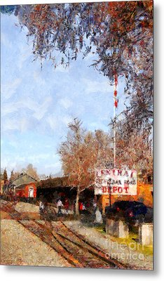 The Old Sacramento Central Train Depot . 7d11527 Metal Print by Wingsdomain Art and Photography