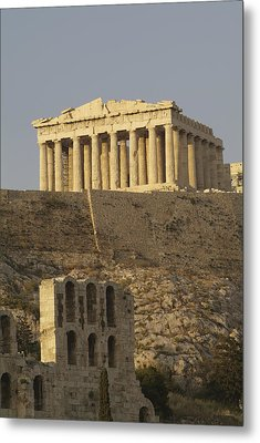 The Parthenon On The Acropolis Metal Print by Richard Nowitz