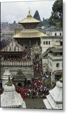 The Pashupatinath Temple Metal Print by James P. Blair