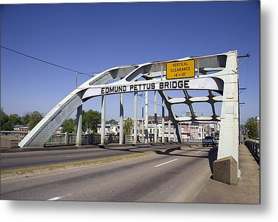 The Pettus Bridge In Selma Alabama Metal Print by Everett