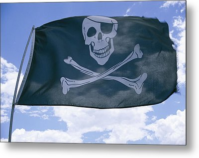 The Pirate Flag Known As The Jolly Metal Print by Stephen St. John