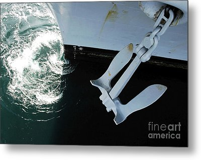 The Port Side Mark II Stockless Anchor Metal Print by Stocktrek Images