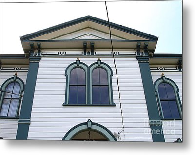 The Potter School House . Bodega Bay . Town Of Bodega . California . 7d12482 Metal Print by Wingsdomain Art and Photography
