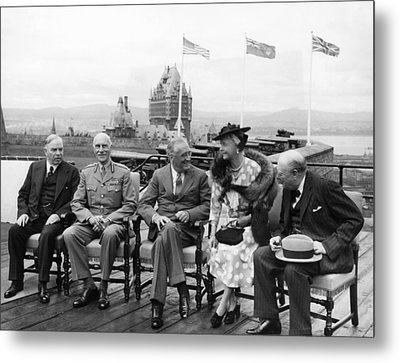 The Quebec Conference, Canadian Prime Metal Print by Everett