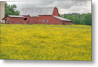 The Red Barn Metal Print by JC Findley