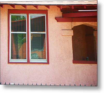 The Red House Metal Print by Lenore Senior