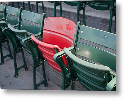 The Red Seat Metal Print by Joseph Maldonado