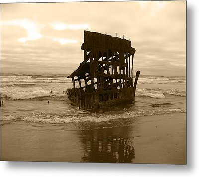 The Remains Of A Ship Metal Print by Kym Backland