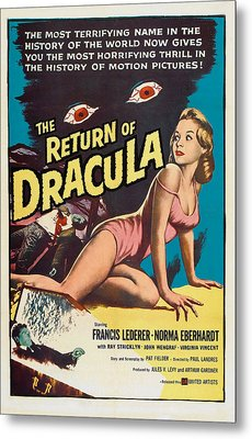 The Return Of Dracula, Francis Lederer Metal Print by Everett