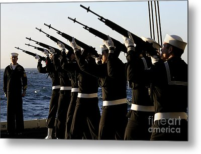 The Rifle Detail Aboard Metal Print by Stocktrek Images