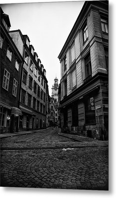 The Right Way Stockholm Metal Print by Stelios Kleanthous