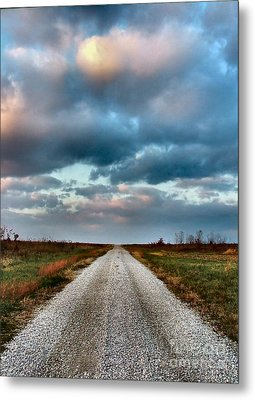 The Road To Somewhere Metal Print by Julie Dant