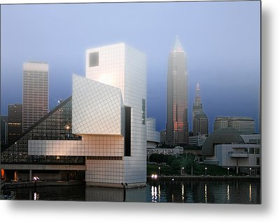 The Rock And Roll Hall Of Fame Metal Print by Richard Gregurich