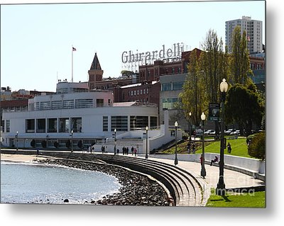 The Sala Burton Building . Maritime Museum And The Ghirardelli Chocolate Factory . Sf Ca . 7d14061 Metal Print by Wingsdomain Art and Photography