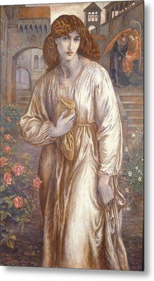 The Salutation  Metal Print by Dante Charles Gabriel Rossetti