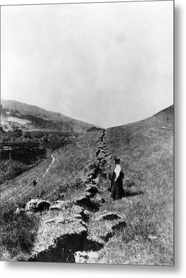 The San Andreas Fault In Olema Metal Print by Everett