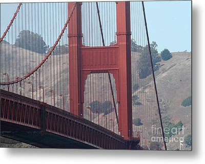 The San Francisco Golden Gate Bridge - 7d19057 Metal Print by Wingsdomain Art and Photography