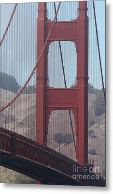 The San Francisco Golden Gate Bridge - 7d19061 Metal Print by Wingsdomain Art and Photography