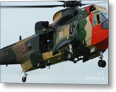 The Sea King Helicopter In Use Metal Print by Luc De Jaeger