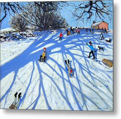 The Shadow Derbyshire Metal Print by Andrew Macara