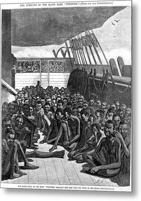 The Slave Deck Of The Ship Wildfire Metal Print by Everett