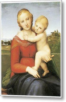 The Small Couper Madonna Metal Print by Raffaello Sanzio