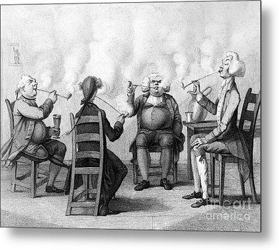 The Smoking Club Metal Print by Granger