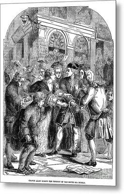 The South Sea Bubble, 1720 Metal Print by Granger