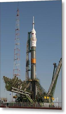 The Soyuz Rocket Shortly After Arrival Metal Print by Stocktrek Images