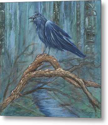 The Spirit Of Trickster Metal Print by Melodie Douglas