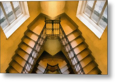 The Staircase Reflection Metal Print by Odon Czintos