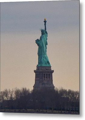 The Statue Of Liberty Metal Print by Bill Cannon