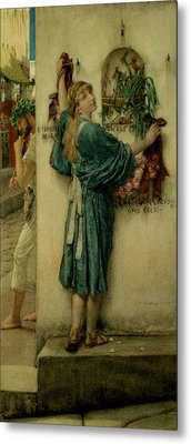 The Street Altar Metal Print by Sir Lawrence Alma-Tadema