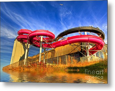 The Sun Centre Metal Print by Adrian Evans