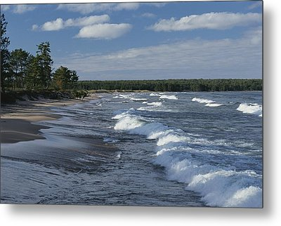 The Surf Breaks On A Beach Metal Print by Raymond Gehman