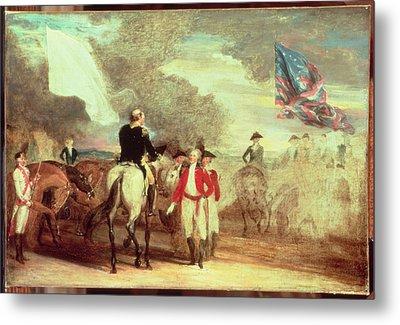 The Surrender Of Cornwallis At Yorktown Metal Print by John Trumbull