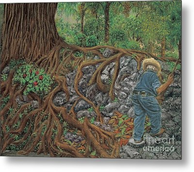 The Sweeper Metal Print by Jim Barber Hove