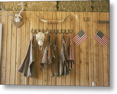 The Tack Room At Saddleback Ranch Metal Print by Taylor S. Kennedy