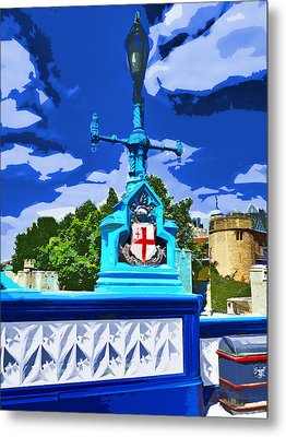 The Tower Lamp Post Metal Print by Steve Taylor