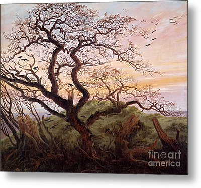 The Tree Of Crows Metal Print by Caspar David Friedrich